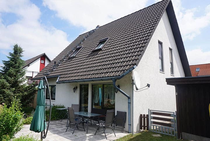 Einfamilienhaus Garten