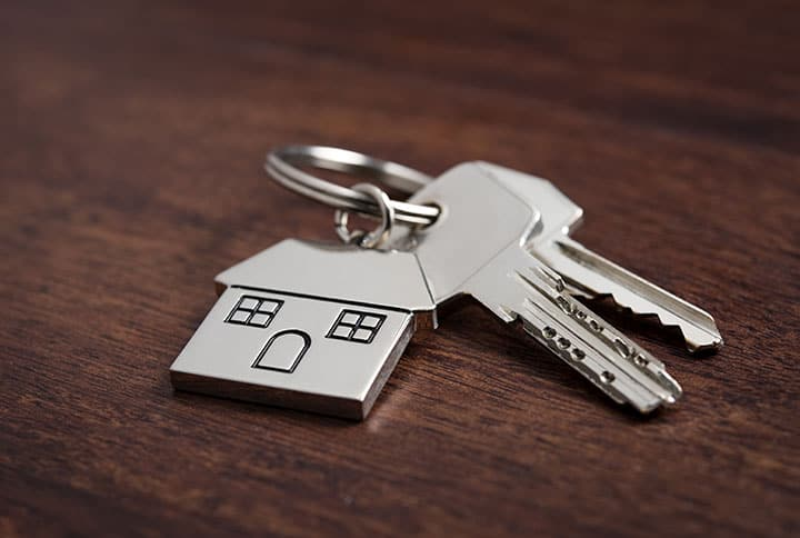 Schlüsselbund mit Haus