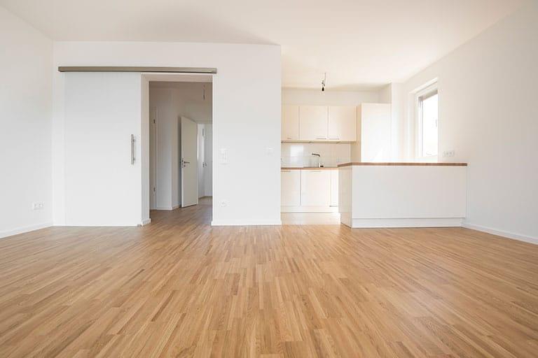 Leere Wohnung-sauber-weiß-immobilie-interior