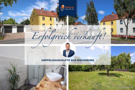 3 gute Gründe: sanierte Immobilie, ideale Lage, großes Grundstück!, 39130 Magdeburg, Doppelhaushälfte