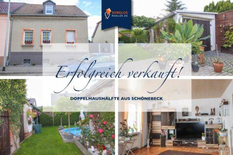 Charmante Doppelhaushälfte mit Pool in toller Lage!, 39218 Schönebeck, Doppelhaushälfte