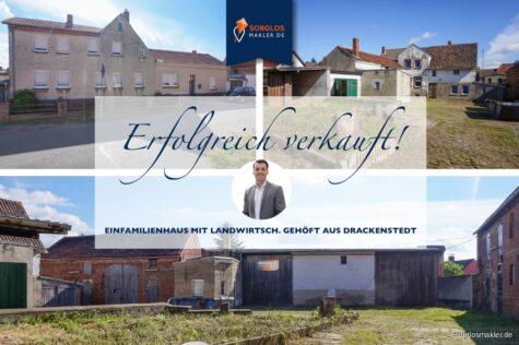 Einfamilienhaus mit Einliegerwohnung landwirtschaftlichem Gehöft, 39365 Drackenstedt, Bauernhaus