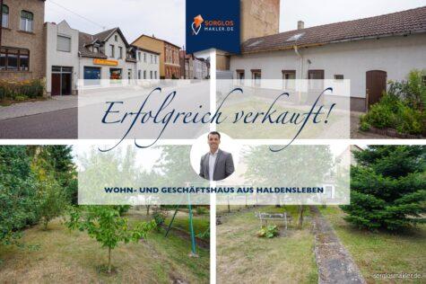 Immobilienpaket – Wohn- und Geschäftshaus + 1 Wohnhaus mit Grundstück in Haldensleben, 39340 Haldensleben, Einfamilienhaus