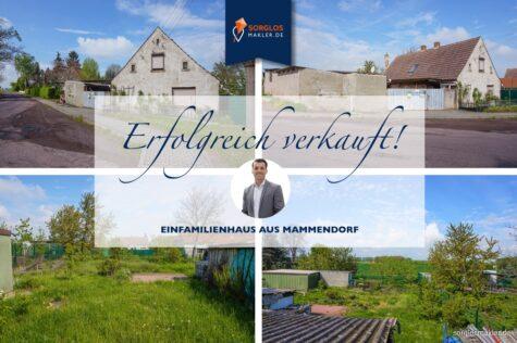 Freistehendes EFH zum Sanieren mit schönem Grundstück – packen Sie es an!, 39167 Eichenbarleben / Mammendorf, Einfamilienhaus