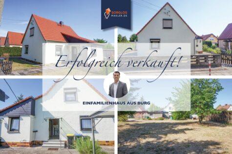 Charmantes Einfamilienhaus in ruhiger Stadtrandlage, 39288 Burg, Einfamilienhaus