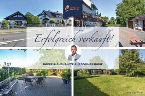 Schöne Doppelhaushälfte mit Gästehaus und idyllischem Grundstück., 39365 Sommersdorf, Doppelhaushälfte