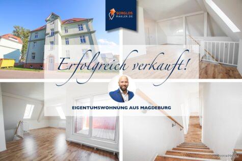 Aufgepasst!!! Großflächige Maisonette Wohnung mit Dachterrasse sucht Sie als neuen Eigentümer., 39110 Magdeburg, Maisonettewohnung