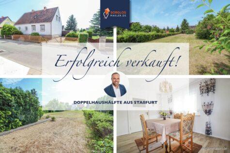 Charmante kleine Doppelhaushälfte mit großem Gartengrundstück, 39418 Staßfurt, Doppelhaushälfte